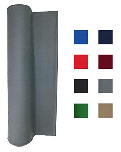 Performance Grade Pool Table Felt - Billiard Cloth - For An 8 Foot Table Light Gray