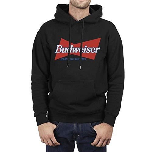 YJRTISF Popular Music Big Pockets Powerblend Budweiser-Budvar-Beer-Logo- Trending Fleece Vintage Pullover Hoodie Sweater for Mens Guys