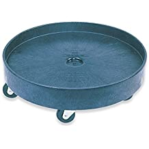 Rubbermaid Commercial FG353000BLA HDPE Brute Square Dolly for 3256 and 3536 Containers
