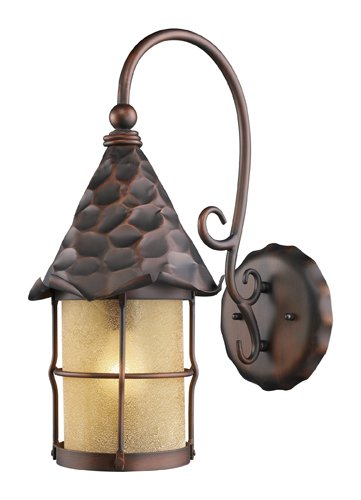 Landmark Outdoor Sconce - Landmark 385-AC Rustica Wall Sconce, 19-Inch H; 10-Inch W; 14-Inch Ext, Antique Copper