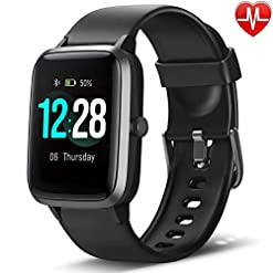 LETSCOM Smart Watch Health & Fitness Tracker, IP68 Waterproof Smartwatch with Heart Rate Monitor, Pedometer Watch Step… Activity Trackers [tag]