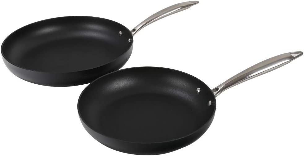 Othello 2-Piece Nonstick Frying Pans Set - 9.5 in. &11 in, Induction Fry Pans, Oven & Dishwasher Safe, PFOA Free: Kitchen & Dining