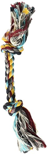 Two Knot Rope Bone Dog Toy in multicolors, Size: (Booda Bone Dog)