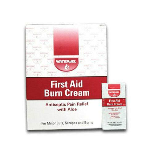 First Aid Burn Cream, Antiseptic Burn Relief, 0.9 gm Packets, MS60768 (144) (Best Antiseptic Cream For Burns)