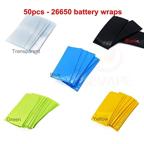 FidgetFidget Battery Mix PVC Heat Shrink Wraps 50pcs