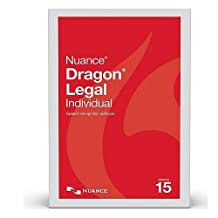 Nuance A509A-S00-15.0 Dragon Legal Individual State & Local Government Version 15 Speech Recognition Software