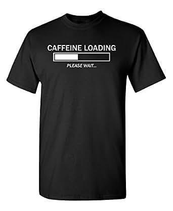 Feelin Good Tees Caffeine Loading Please Wait Coffee Womens Mens Funny T Shirt S Black
