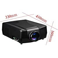 VisionTek New Home theatre LED PROJECTOR with support 1080P 3D movie MAX 2600ANSI LM