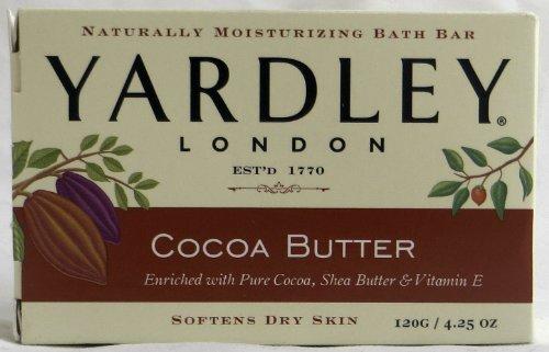 Yardley London Bar Soap Pure Cocoa, Shea Butter - Yardley Cocoa Butter Soap