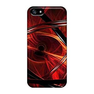 Cute Appearance Cover/tpu 3d View Abstract Red Case For Iphone 5/5s
