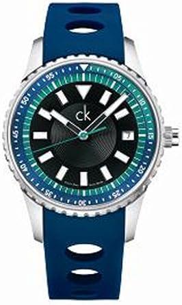 Calvin Klein K3211377 - Reloj de Pulsera Hombre, Caucho: Amazon.es: Relojes