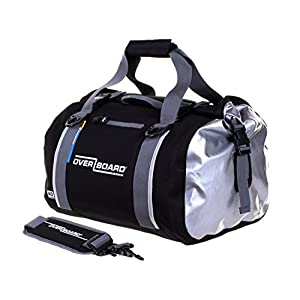 OverBoard Waterproof Classic Duffel Bag, Black, 40-Liter