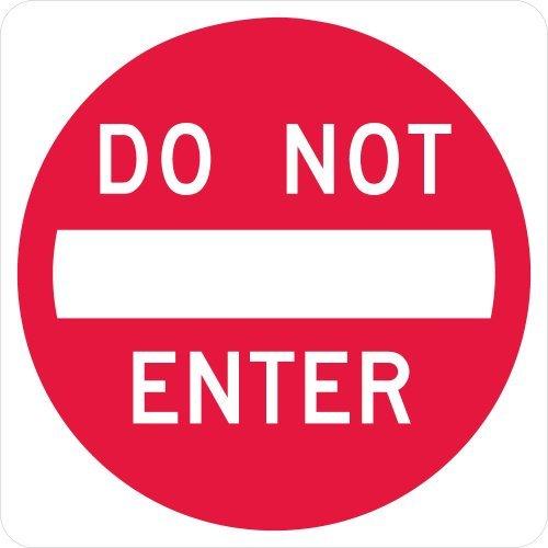 SmartSign MUTCD # R5-1 3M High Intensity Grade Reflective Sign Legend Do Not Enter 24 square Red on White [並行輸入品]   B07N8CWFDX