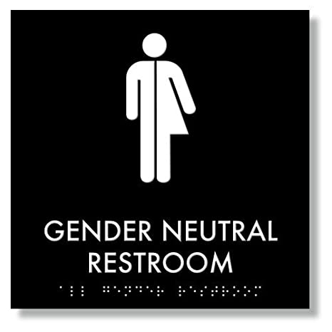 picture relating to Printable Bathroom Sign identify : Gender Impartial Restroom Signal 9\