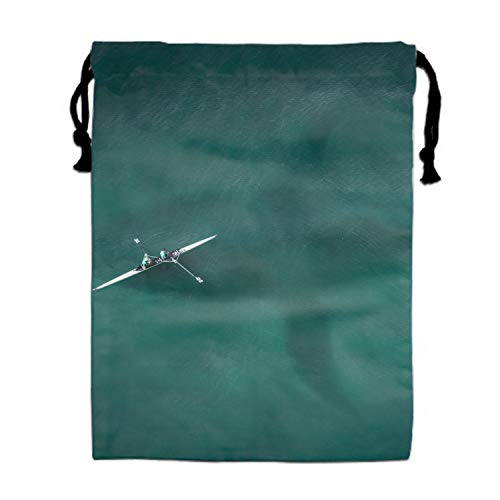 Shark Attack Print Drawstring Bag for Kids Party Favors Supplies Backpack Gym
