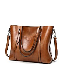 Nathalie Cross Body Bags for Women Vintage Style Soft Oil Wax Leather Shoulder Bag Tote Bag