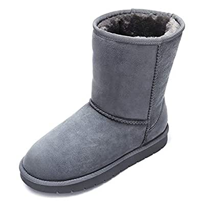 Amazon.com | CAMEL CROWN Snow Boots for Women Mid Calf