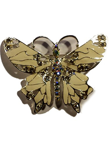 White Crystal Fantasy Butterfly Pin