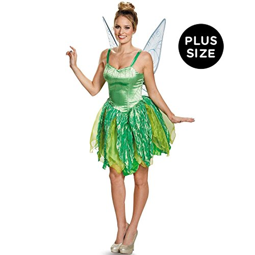 Halloween Costumes Adults Tinkerbell (Disguise Costumes Tinker Bell Prestige Costume (Adult), X-Large (18-20)