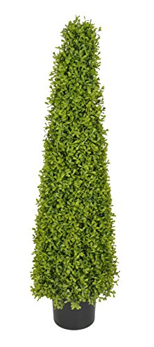 House of Silk Flowers Artificial 3-Foot Lt Green Boxwood Pyramid Topiary