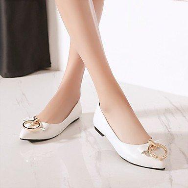 Cómodo y elegante soporte de zapatos de las mujeres pisos Otros Gladiator comodidad boda de piel sintética diseño de primavera verano otoño al aire libre oficina y carrera partido y vestido de noche C blanco