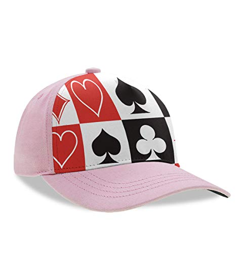YongColer Classic Polo Style Dad Baseball Cap for Kids Children Toddlers - Breathable Moisture Wicking Team Arch Dad Hat Hip-Hop Tennis Cap Fitted Fishing Cap, Grid Poker Playing Cards]()