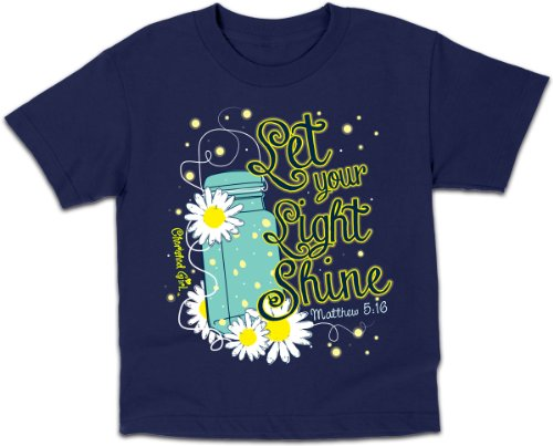 Lightning Bug (Cherished Girl Kidz), Tee, LG, Navy - Christian Fashion Gifts