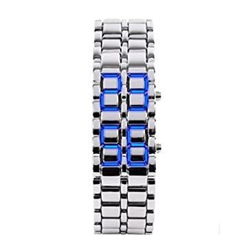 55dce1e28891 Metal Domire Lava estilo reloj LED Digital amarrarme  Amazon.es  Iluminación