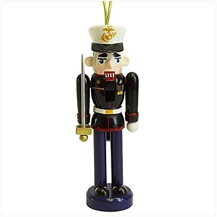 "14/"" United States MARINE Military Wood Nutcracker Flag Christmas Holiday NEW"