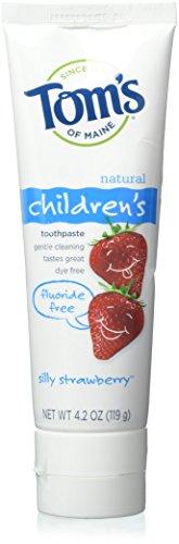 Tom's of Maine Fluoride Free Children's Toothpaste, Silly Strawberry, 4.2 Oz - Fluoride Silly Strawberry