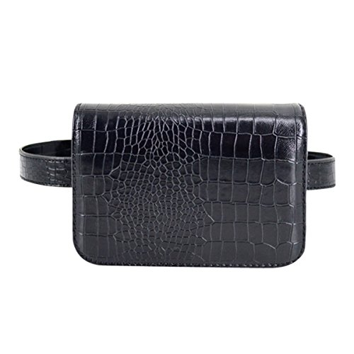 - Buddy Fanny Pack Fashion Crocodile Leather Mini Waist Bag Phone Pocket Running Outdoor Belt Bum Bag Sport Purse (Medium)