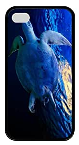 crazy case Turtle Underwater TPU Black Case for iphone 4/4S