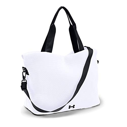 Under Armour Women's Cinch Mesh Tote, White (100)/Black, One Size