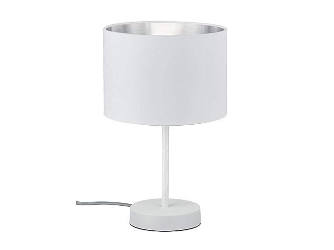 Lámpara de mesa LED decorativa de 33 cm con pantalla de ...