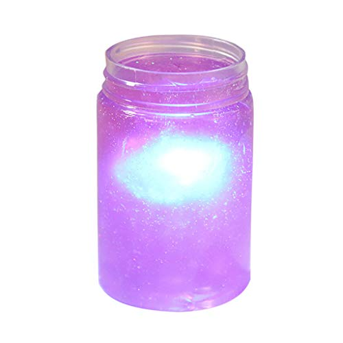 Gbell  Surprise Slime Toy Starlight 120Ml DIY Starry Sky Mud Slime Mud with Led Light Scented Stress Relief Stretchy Individualit Clay Decompression Toy for Kids Boys Girls ()