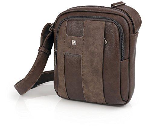 Bolso Gabol hombre bolsillo vertical (Negro) marrón