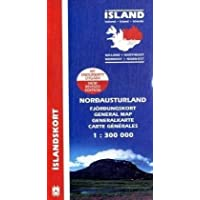Island. Nordost 1 : 300 000: North East (Maps of Iceland)