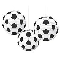 Amscan Soccer Paper Lanterns, decoración de fiesta