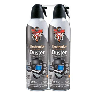 - Dust-Off Products - Dust-Off - Disposable Compressed Gas Duster, 3.5oz Can - Sold As 1 Each - Blows Away dust and lint. - 100% Ozone Safe. - Trigger Controls Spray Power. - Slip-on Extender. -