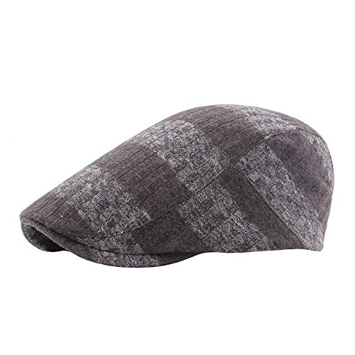 Fashion Summer Beret Caps for Men Women Vintage News boy Hat Cabbie Gatsby Linen Outdoor Brand Sun Hat Unisex Styling (Color : Coffee, Size : 56-58CM)]()