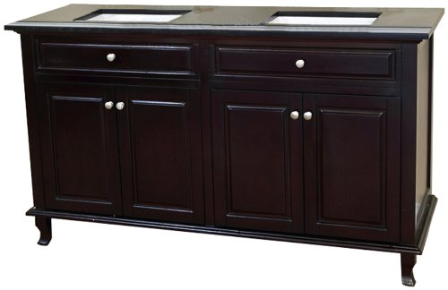Bellaterra Home 603215-62DM-BG 62-Inch Double Sink Vanity, Dark - Inch Vanity 62