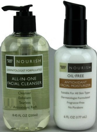 Trader Joe's Nourish All-In-One Facial Cleanser & Nourish Oil-Free Antioxidant Facial Moisturizer