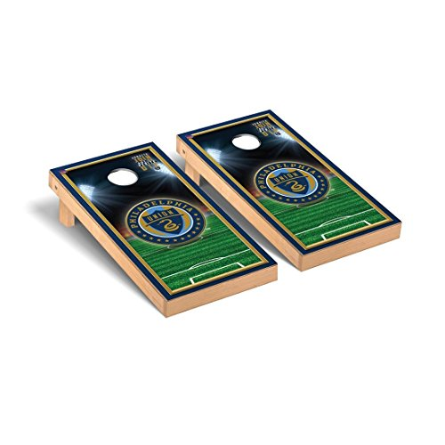 Victory Tailgate Philadelphia Union Zolos MLS Soccer Desktop Cornhole Game Set Soccer Field Version 1 by Victory Tailgate