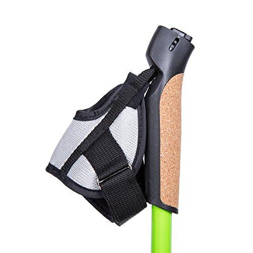 1 Pair of FLYINGBIRD Ultralight Adjustable 50% Carbon Fiber Hiking Pole Walking Stick (Green)