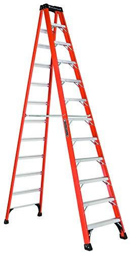 (Louisville Ladder 12-Foot Fiberglass Step Ladder, 375-Pound Capacity,)