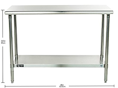 TRINITY EcoStorage NSF Stainless Steel Table, 48-Inch by Trinity (Image #12)