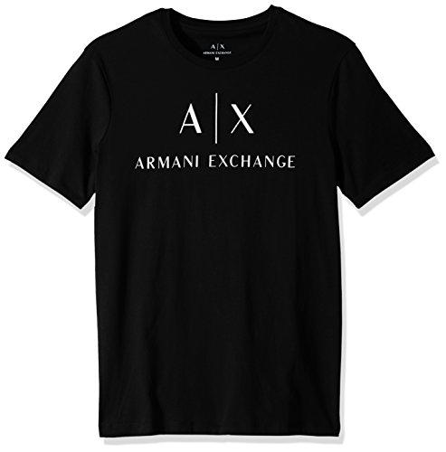 Classic Logo Black Tee - A|X Armani Exchange Men's Classic Crew Logo Tee, Black, M