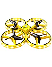 Drone UaV Performance Gesture Sensing Stable Gimbal Outdoor Watch controller Gesture Hold Quadcopter toy for kids (yellow)