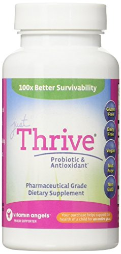 Just Thrive Probiotic & Antioxidant: 100% Survivability (Better than Leading Probiotics)-Immune System Support – Nutritionist Recommended –Backed by New Science!–30 Day Supply–100% Guarantee