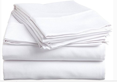 GHP 24-Pcs White 54''x81'' Muslin Percale Poly & Cotton Blend Message Table Flat Sheets by Globe House Products